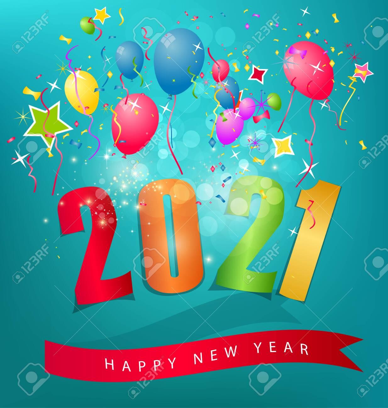 Happy new year 2021 - 144336596