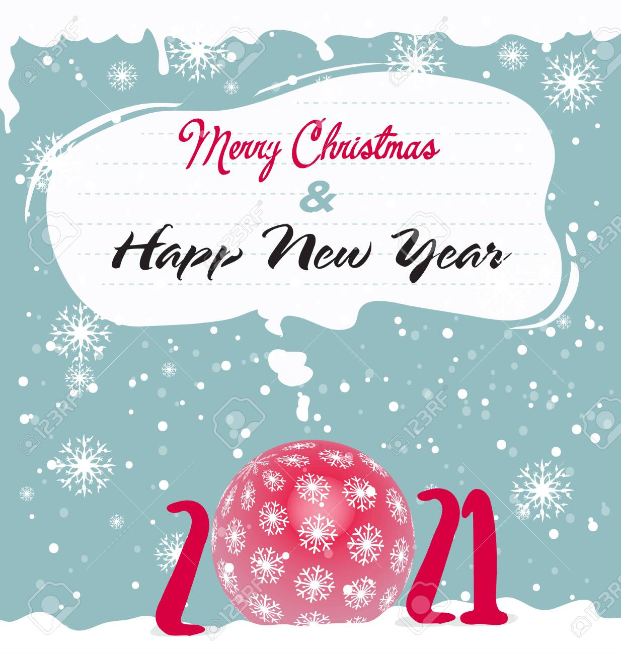 Merry Christmas 2021 Clipart Happy New Year And Merry Christmas 2021 Royalty Free Cliparts Vectors And Stock Illustration Image 144438673