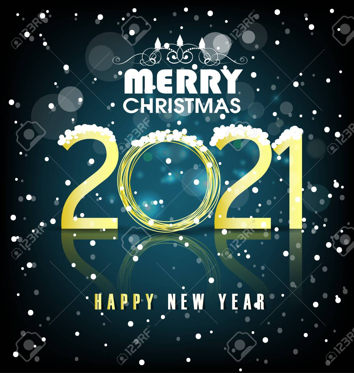 happy new year and merry christmas 2021 royalty free cliparts vectors and stock illustration image 144438762 happy new year and merry christmas 2021