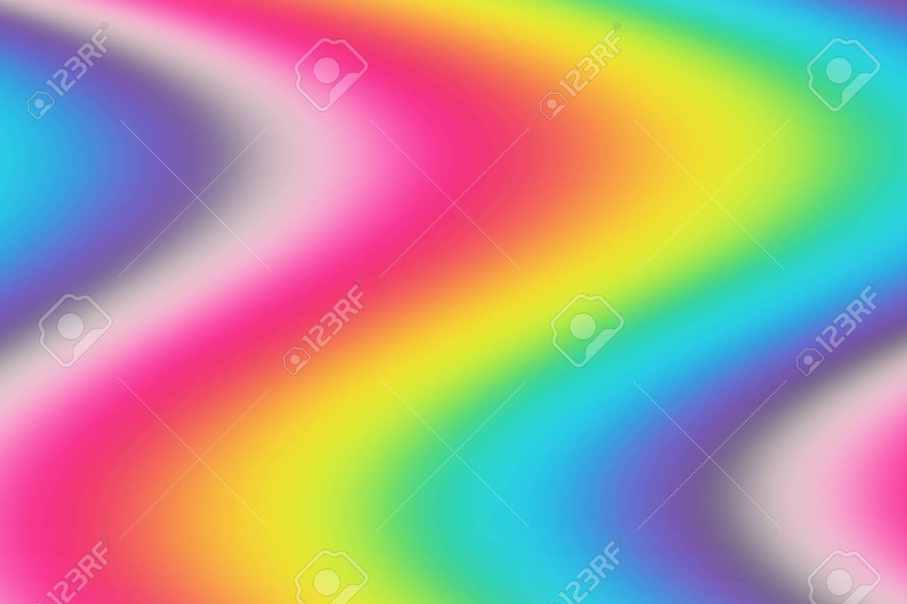 Abstract Blurred Rainbow Background Colorful Wallpaper Bright