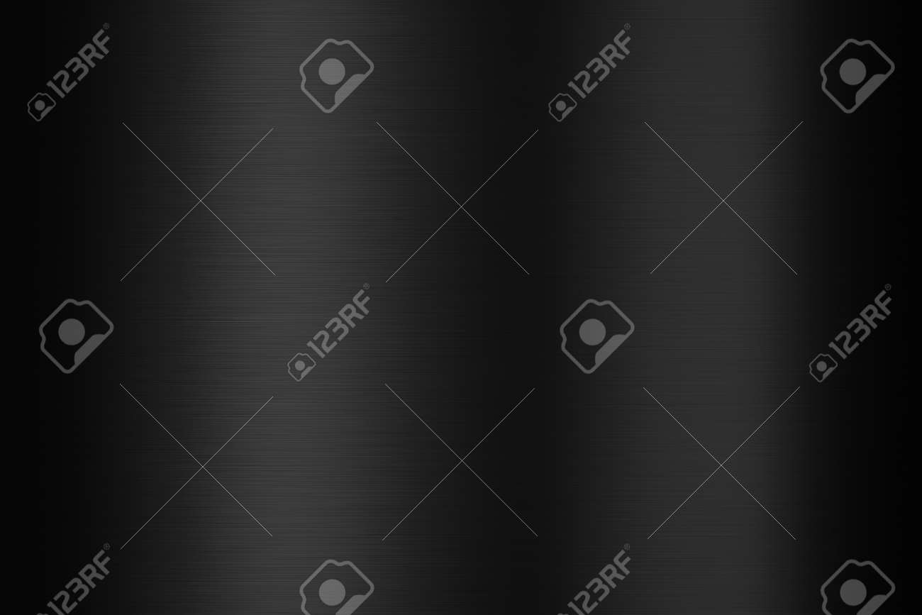 Black metal steel plate and metallic texture on dark background with shiny pattern stainless material surface. 3D rendering. - 169145926