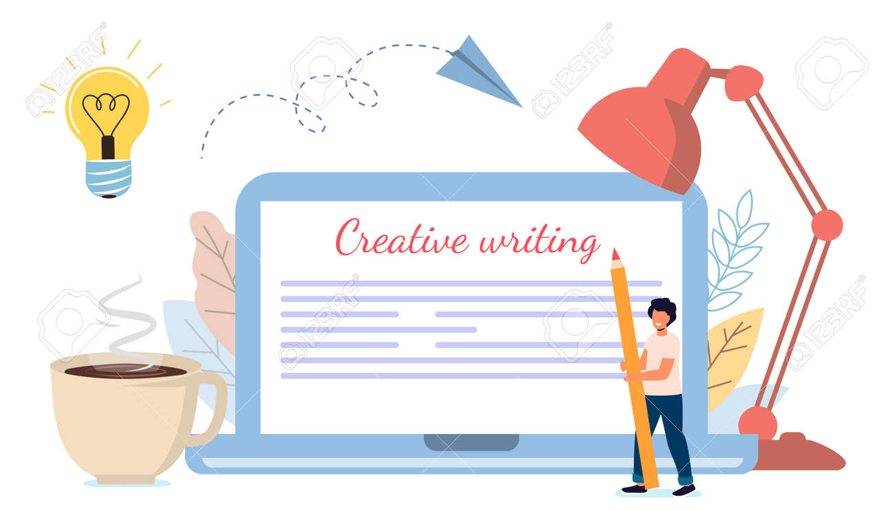 Content creative writing Copywriting and content marketing concept Flat tiny literature text author persons Story vector illustration Blogging Blogger Freelance Content management - 171310511