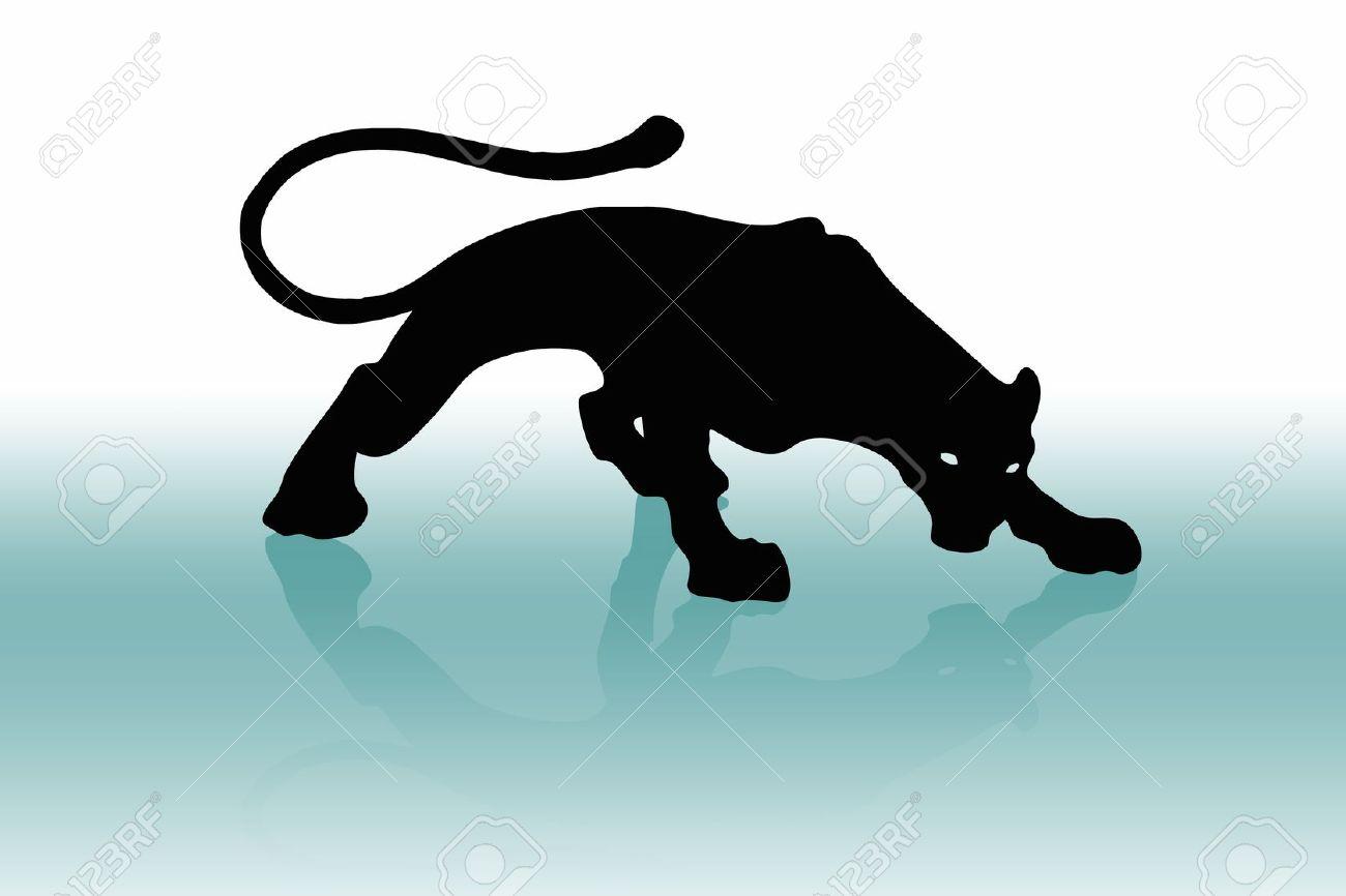 Black puma or phanter (wallpaper, background, flayer, logo...) Stock Photo - 8980128