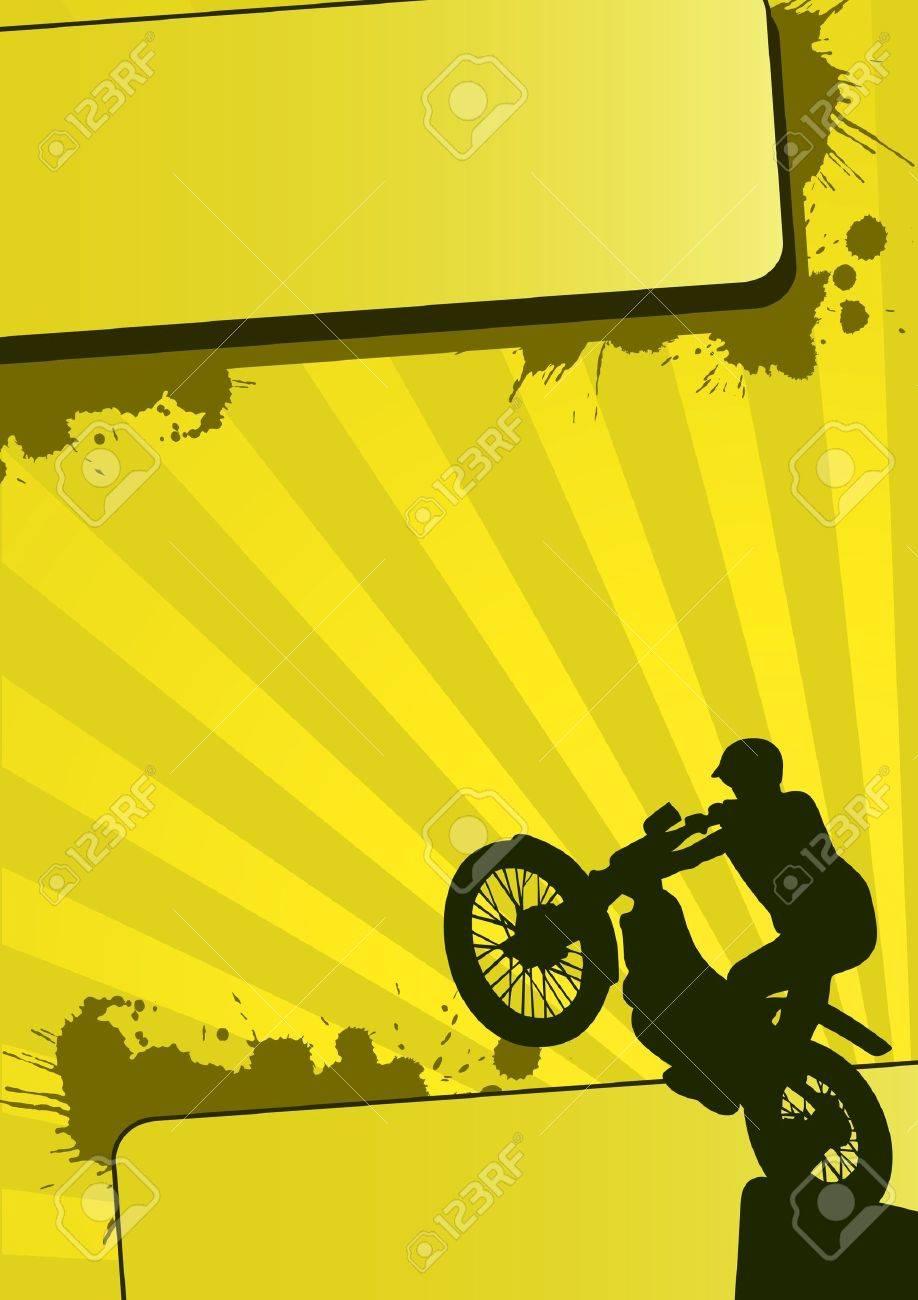 Grunge motocross sport (background, web, slyer, magazin...) Stock Photo - 9638726