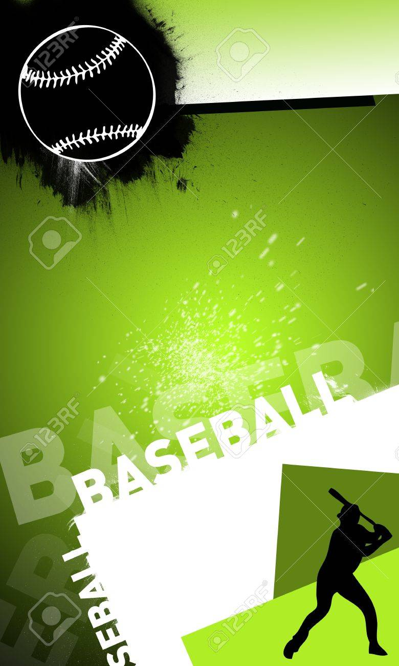 Abstract baseball background with space (poster, web, leaflet, magazine) Stock Photo - 14032206