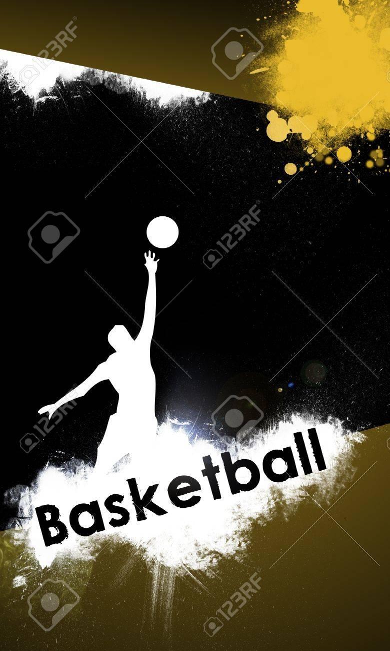 Fond De Basket-ball Avec L\'affiche D\'espace, Web, Dépliant, Le ...