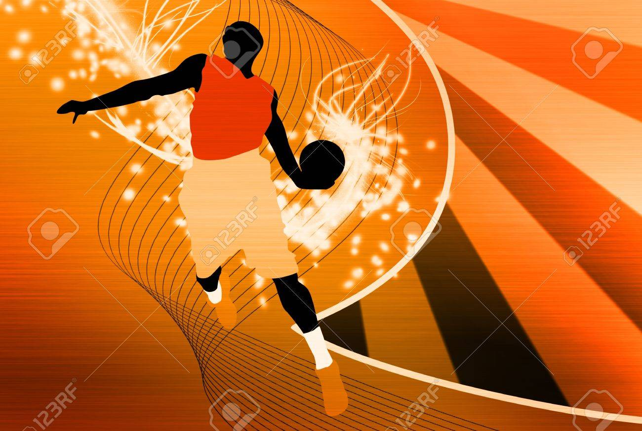 Fond Saut De Basket-ball Avec L\'affiche D\'espace, Web, Dépliant, Le ...