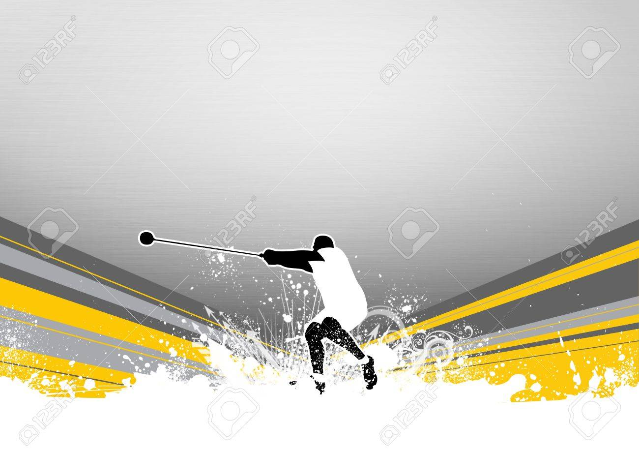 Hammer Throw background with space (poster, web, leaflet, magazine) Stock Photo - 14033025
