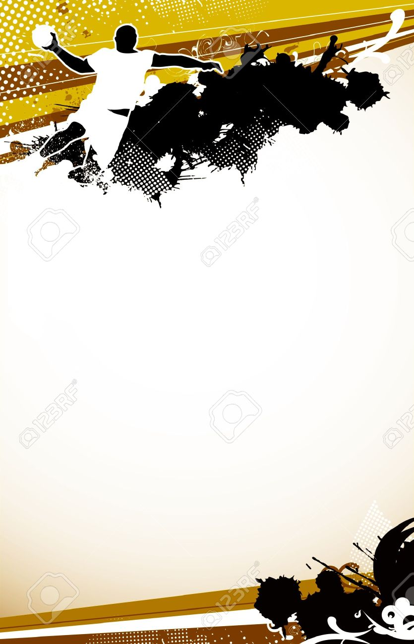 Handball shot background with space  poster, web, leaflet, magazine Stock Photo - 14032658