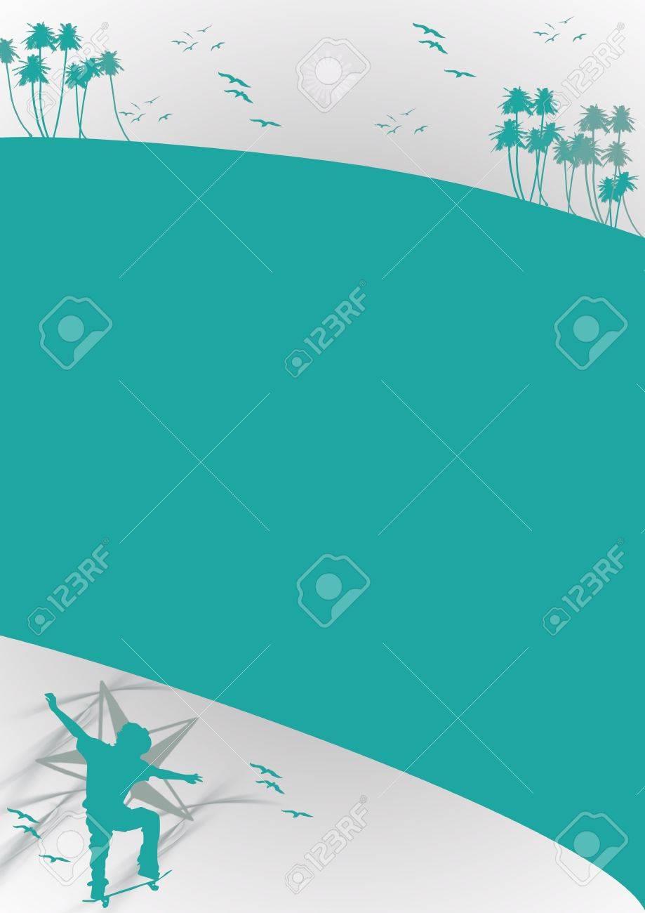 Skate jumping background (poster, web, leaflet, magazine) Stock Photo - 14094161