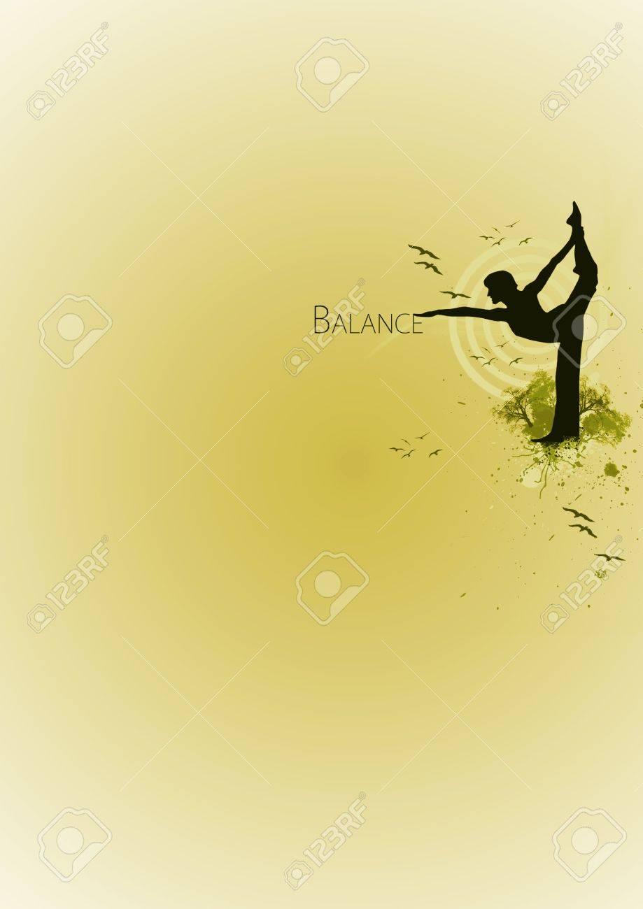 Yoga Balance Background Poster Web Leaflet Magazine Stock Photo