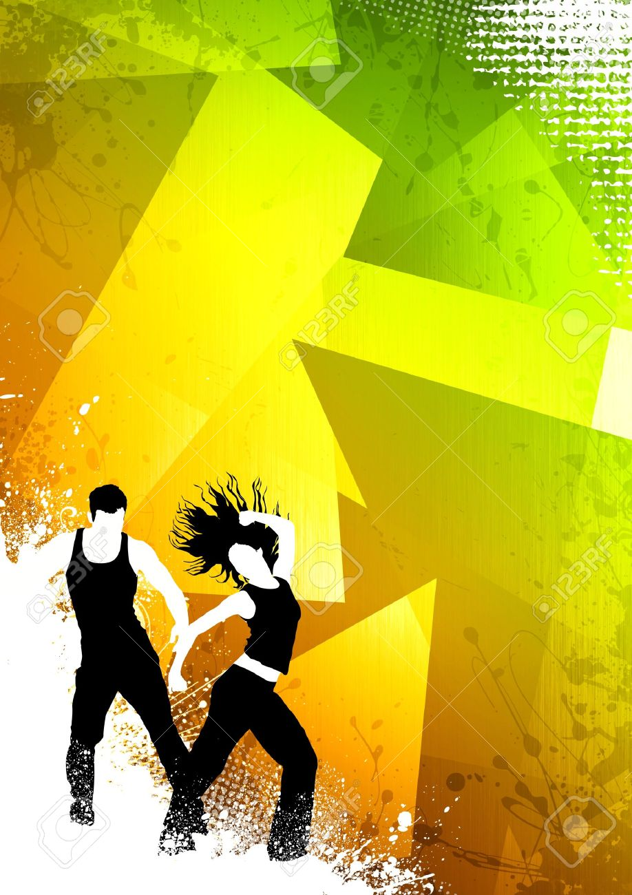 Zumba poster design - Zumba Abstract Color Zumba Fitness Dance Background With Space Stock Photo