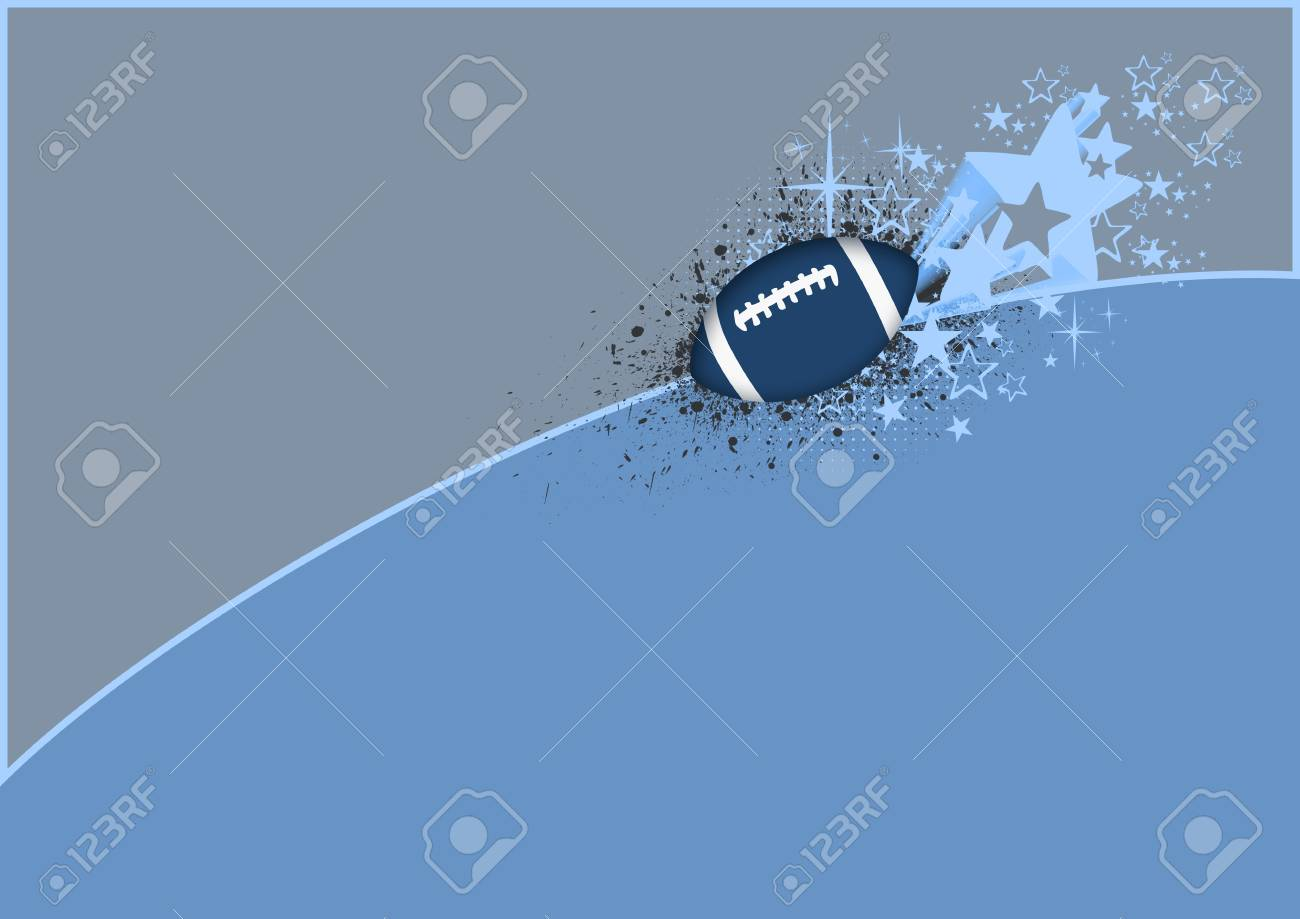 Abstract color american football background with space Stock Photo - 15209305