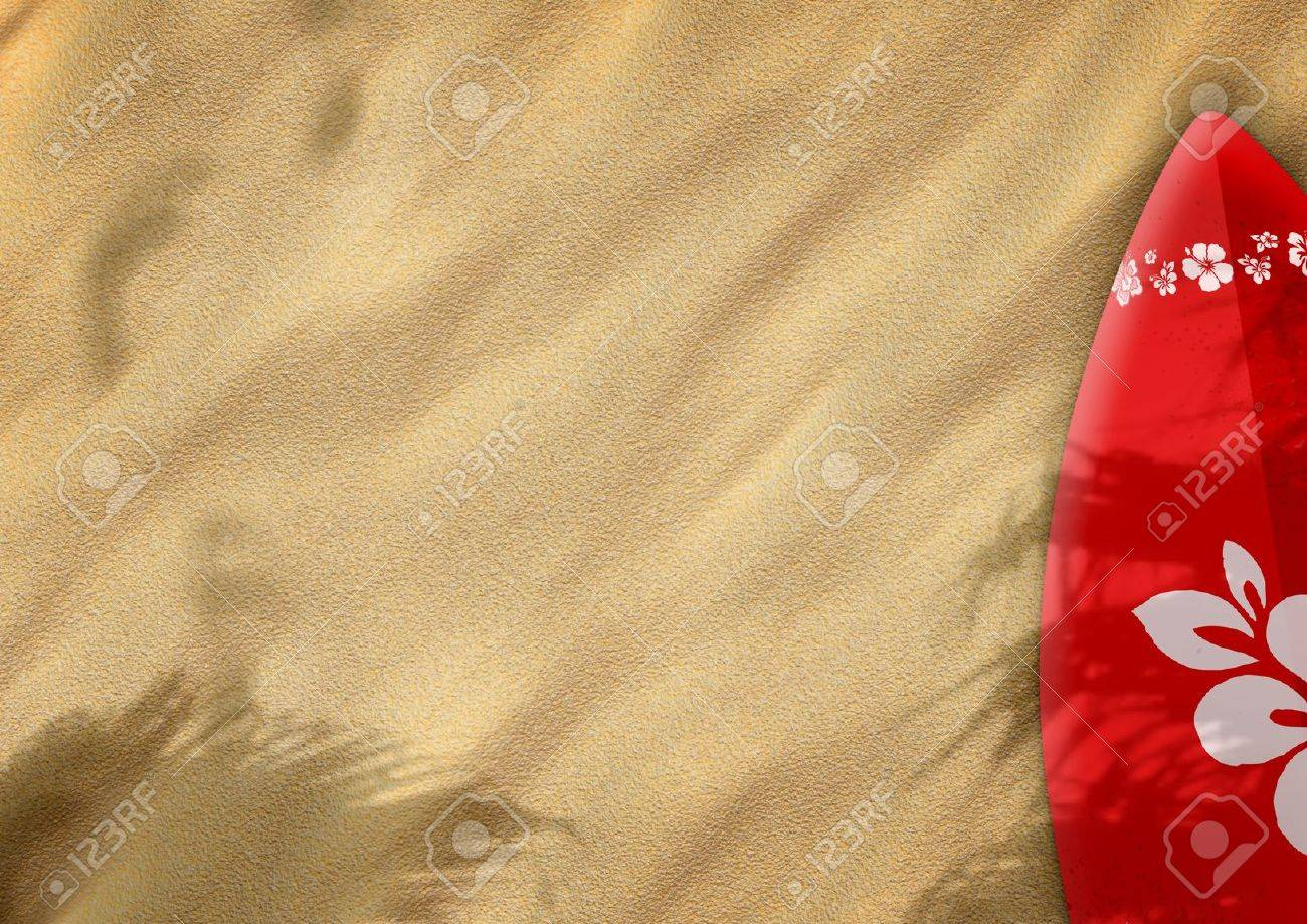 surfboards on sand color background with space Stock Photo - 14983515