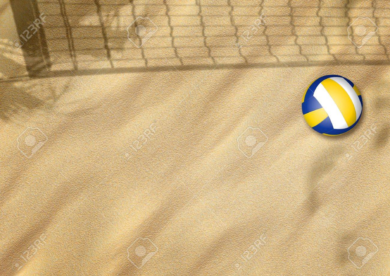 beach volleyball on sand sport background with space Stock Photo - 15221645