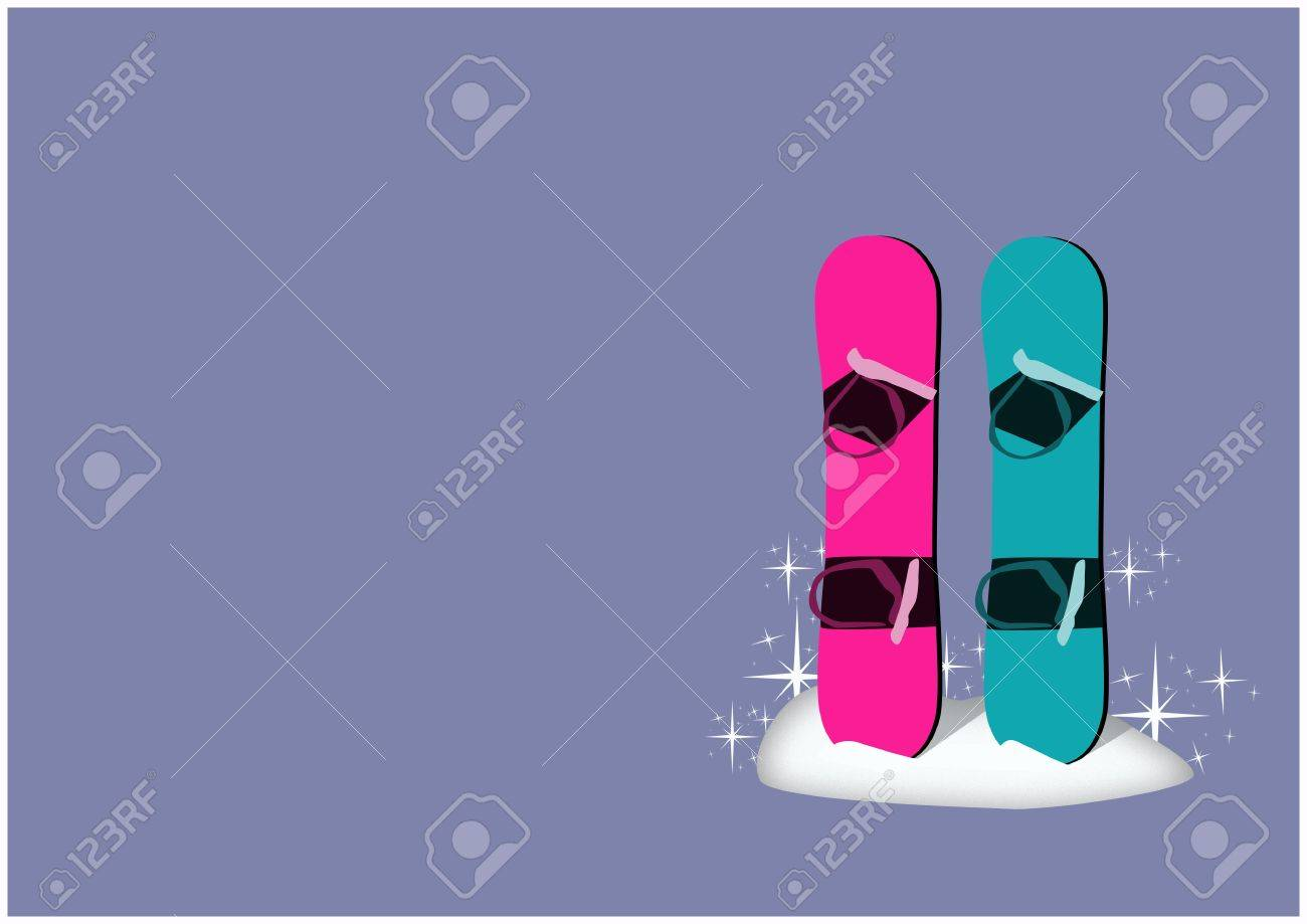 Winter camp poster: snowboard background with space Stock Photo - 15701011