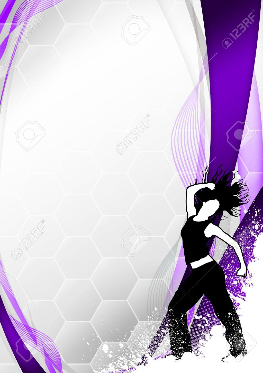 Zumba poster design - Zumba Fitness Or Dance Poster Background With Space Stock Photo 15700887