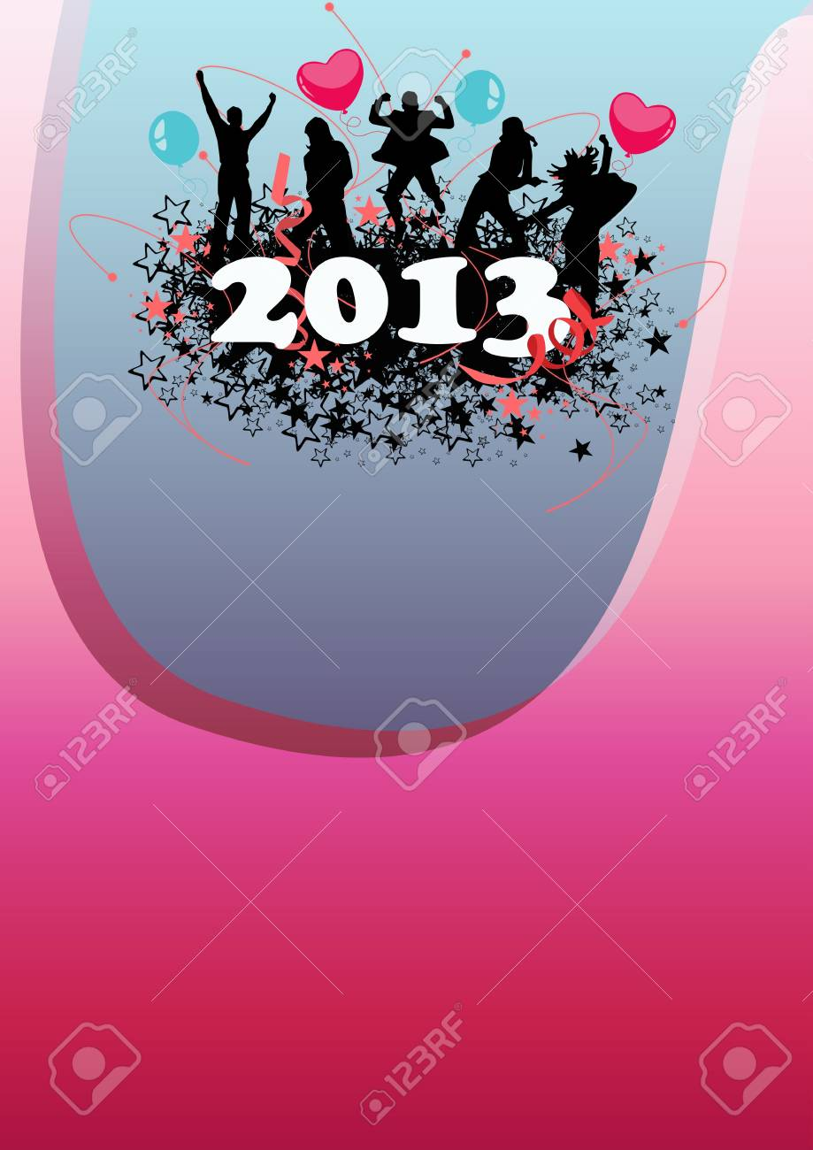 Happy new year poster background with space Stock Photo - 16632034