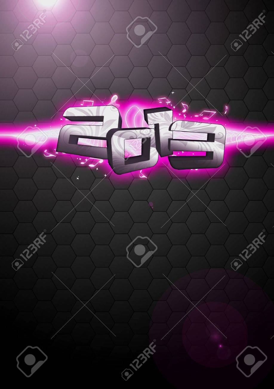 Happy new year 2013 party invitation card or poster background with space Stock Photo - 16687115