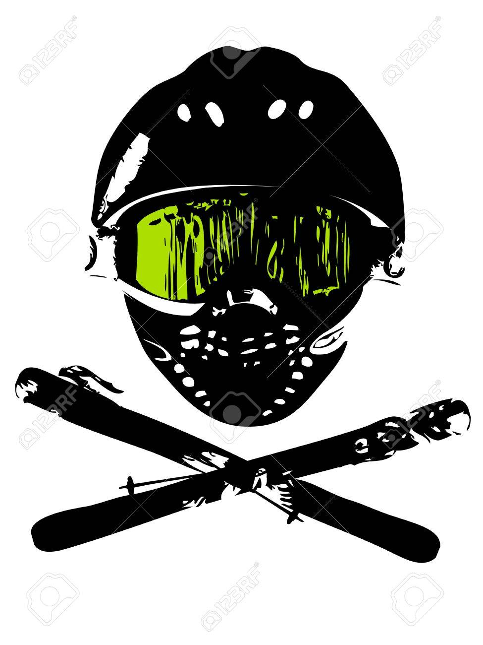 Extreme snowboard mask (logo, magazin, flyer, background) Stock Photo - 17222864