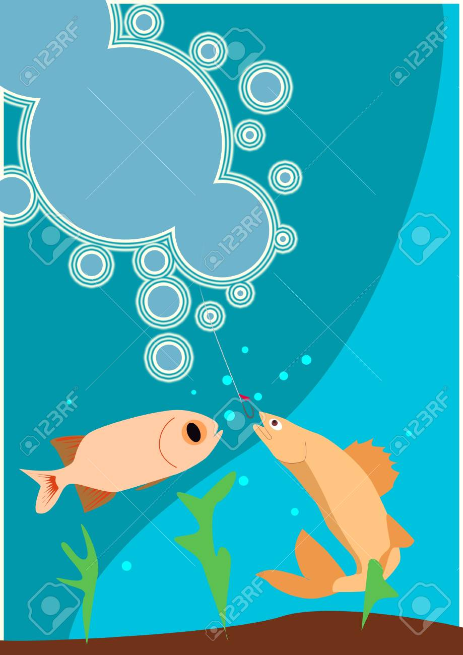 Fishing poster or flyer background with space Stock Photo - 18380000