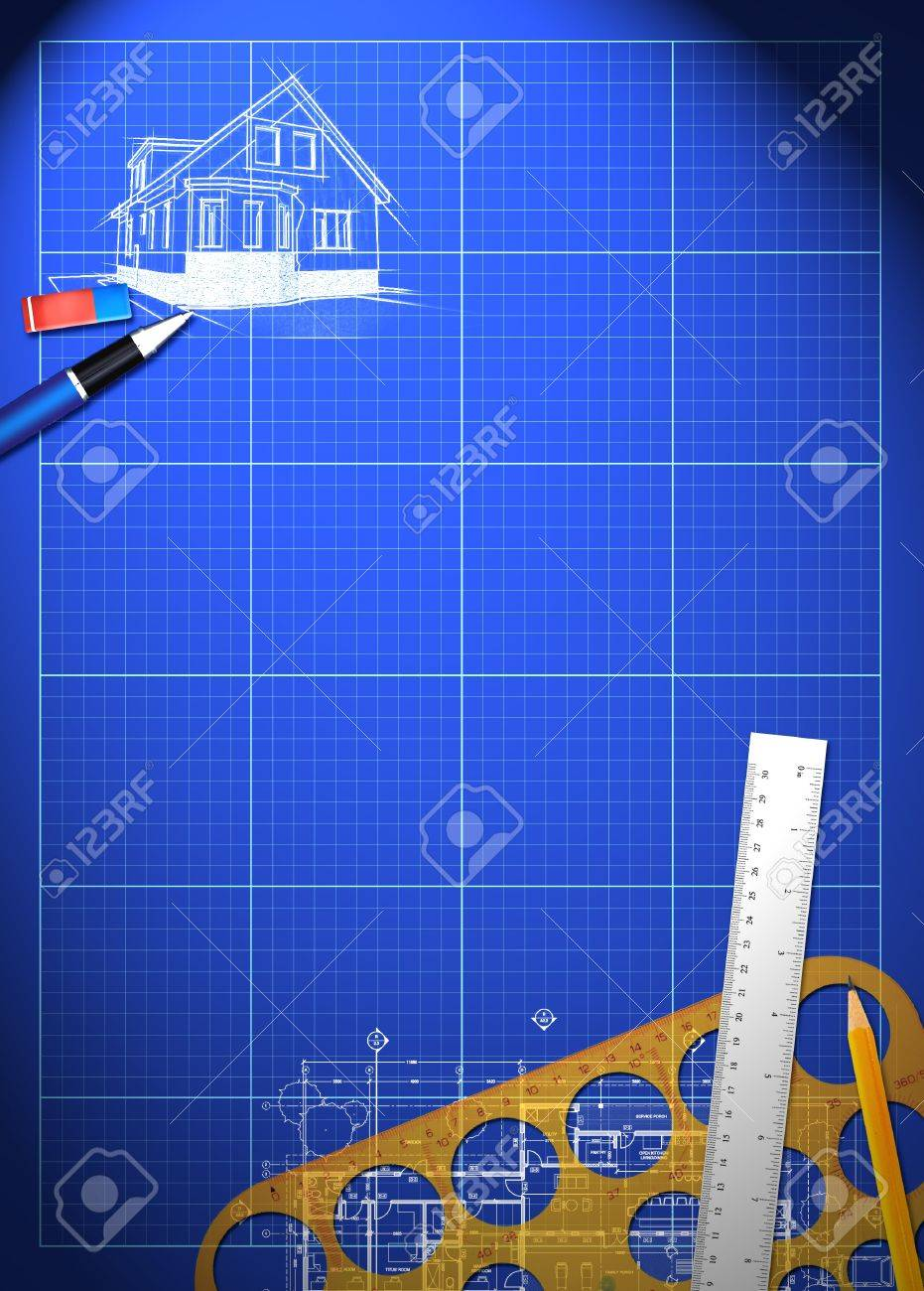 Abstract house blueprint poster background with space stock photo abstract house blueprint poster background with space stock photo 18855548 malvernweather Images