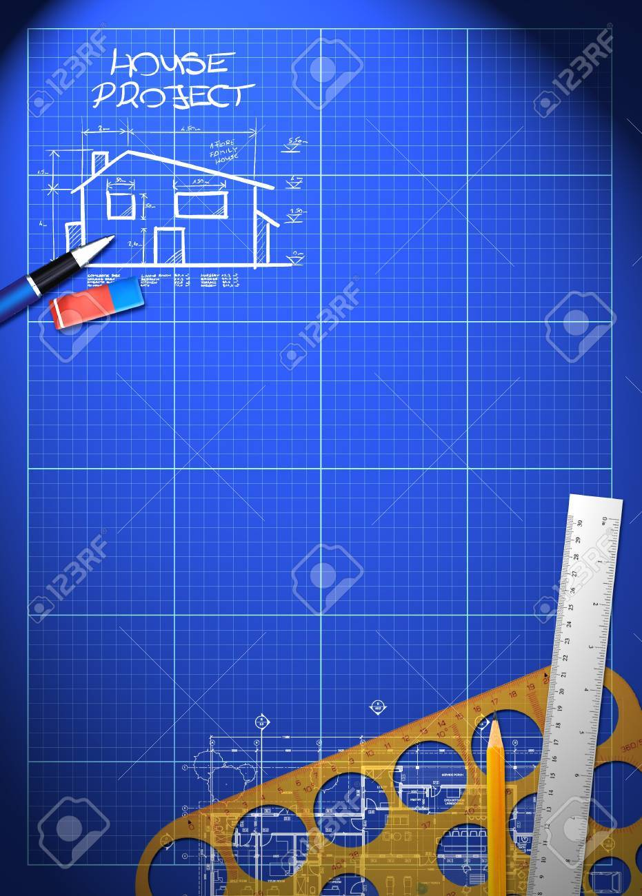 Abstract house blueprint poster background with space stock photo abstract house blueprint poster background with space stock photo 18855545 malvernweather Images