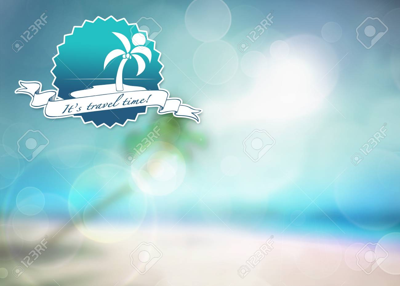 Summer holiday, travel, party or fashion poster background with