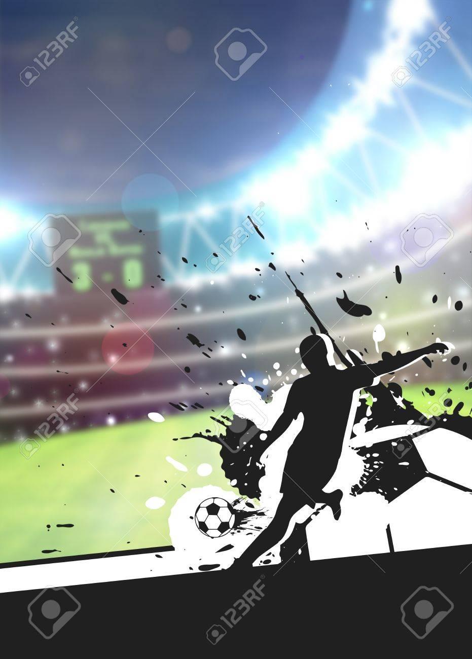 football flyer background