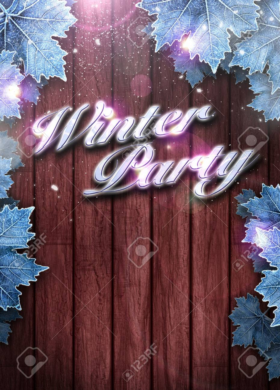 winter party invitation poster or flyer background space stock photo winter party invitation poster or flyer background space