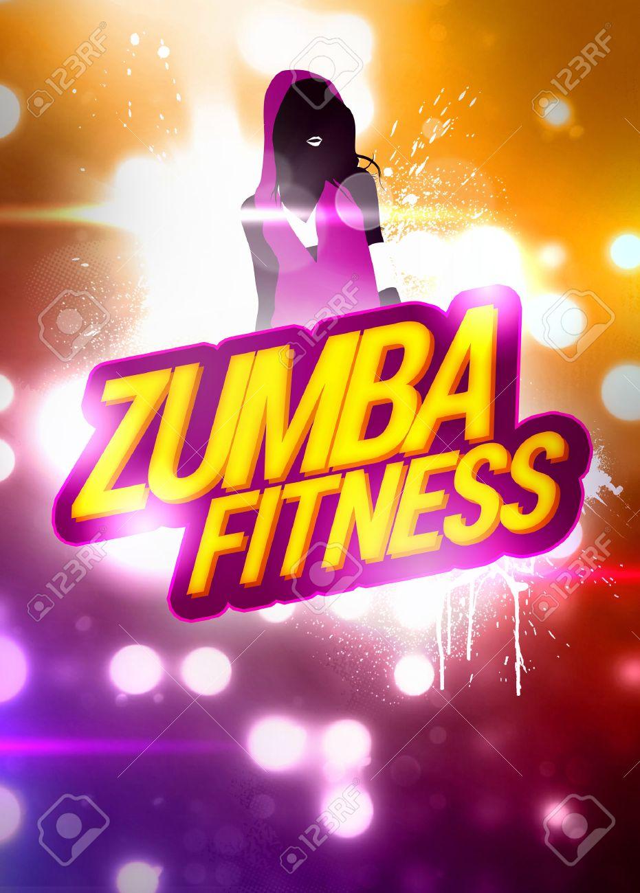 Zumba Fitness Training Invitation Advert Background With Empty