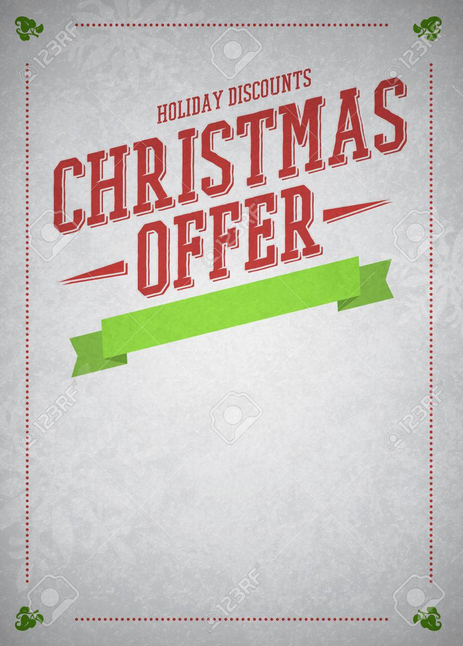 advent or christmas offer and advert poster or flyer advent or christmas offer and advert poster or flyer background empty space stock photo