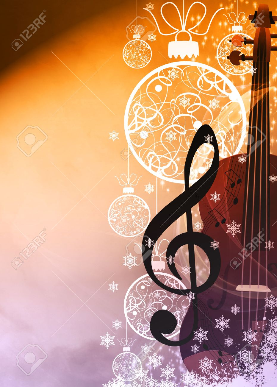 Christmas Music Background.Advent Or Christmas Music Concenrt Advert Poster Or Flyer Background