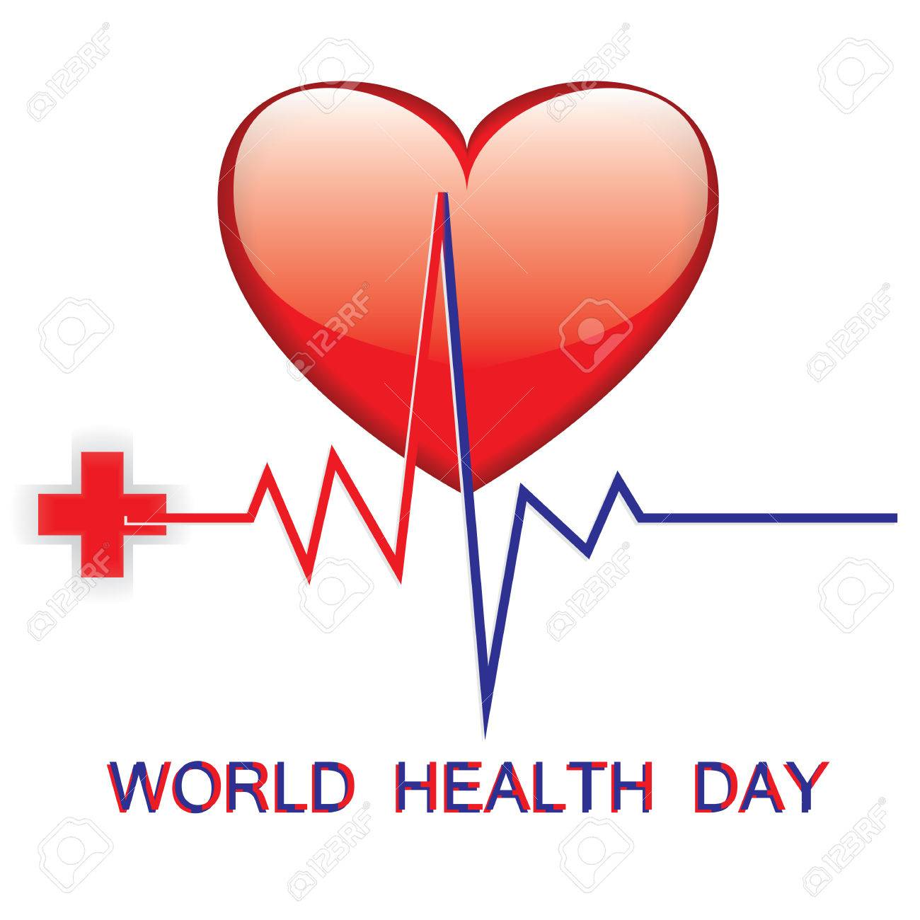World health day medical red cross big heart emblem cardiogram world health day medical red cross big heart emblem cardiogram art creative modern illustration vector white biocorpaavc Images