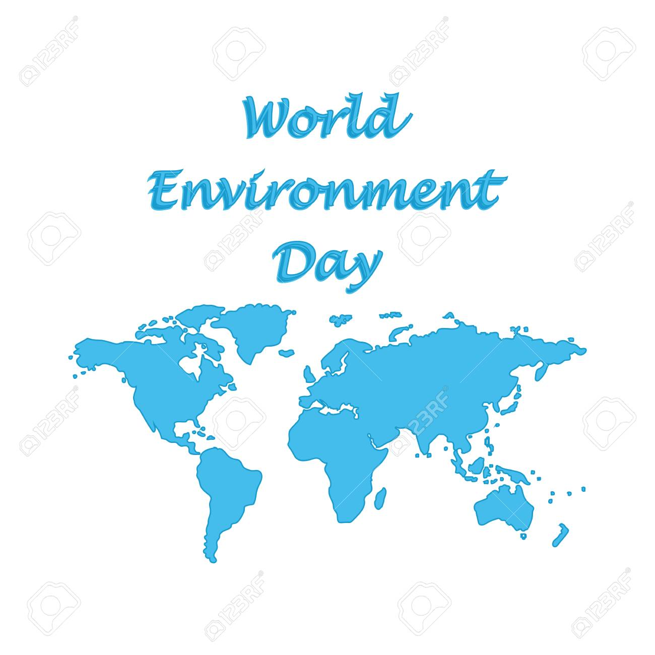 World environment day symbolic world map blue isolated on white vector world environment day symbolic world map blue isolated on white background flat style art creative modern vector illustration gumiabroncs Image collections