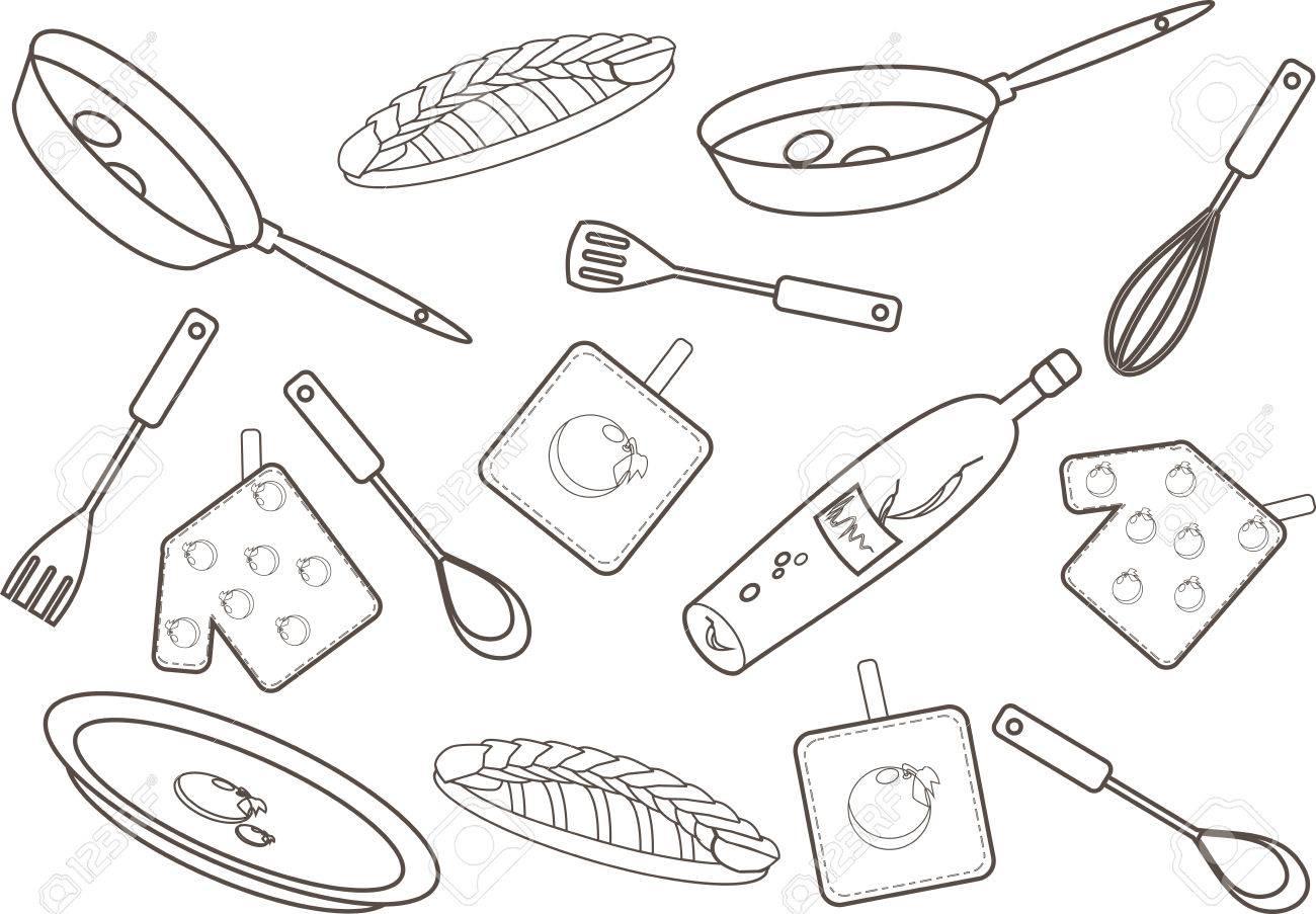 Cucina Disegno. Affordable Tagliere Da Cucina Con Disegno Baita E ...