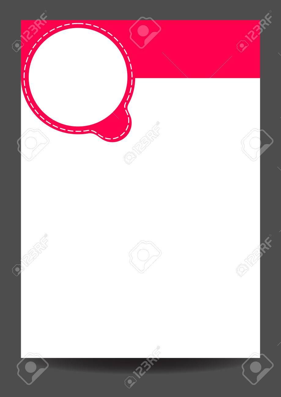 Vector Carte Vide Avec Le Lieu Blanc Pour Texte Rond Rose Et