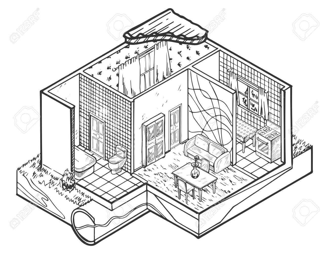 https://previews.123rf.com/images/istry/istry1707/istry170700043/82177753-vector-illustration-of-house-interior-hand-drawn-architecture-illustration-.jpg