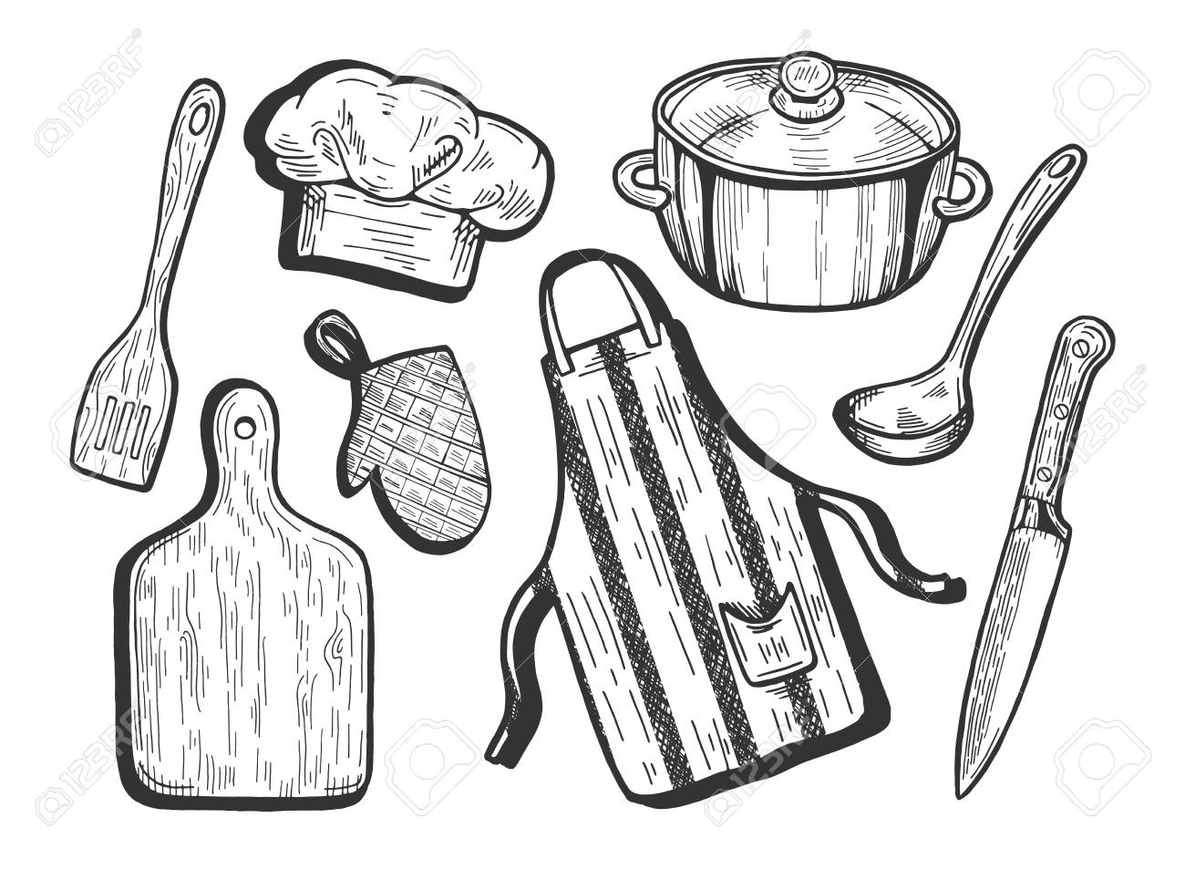 Chef Royalty Free Stock - Chef Stirring Pot Clipart, HD Png Download -  kindpng