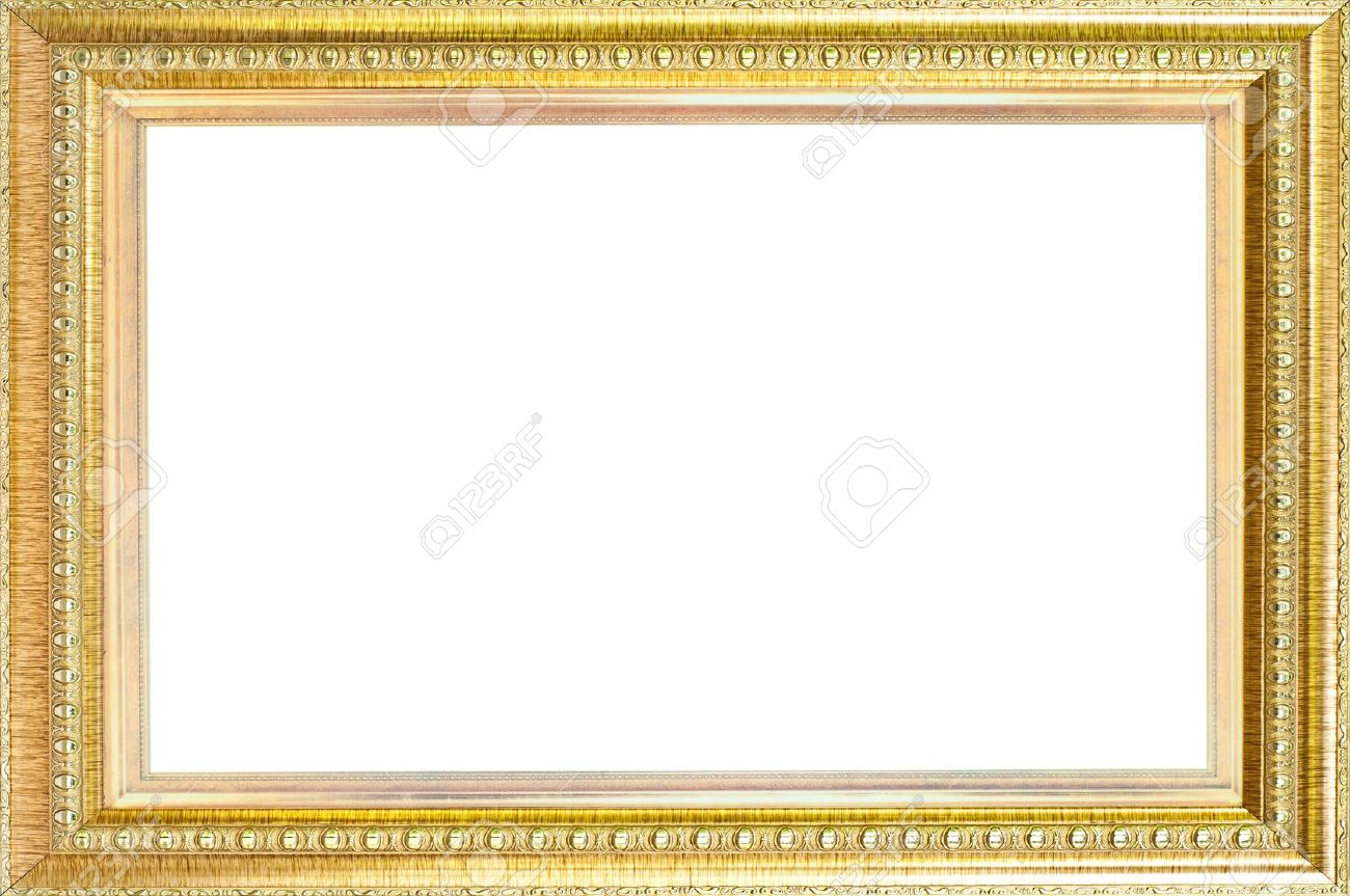 luxury gold frame isol