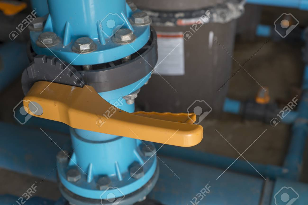 Water valve in swimming pool cleaning system.