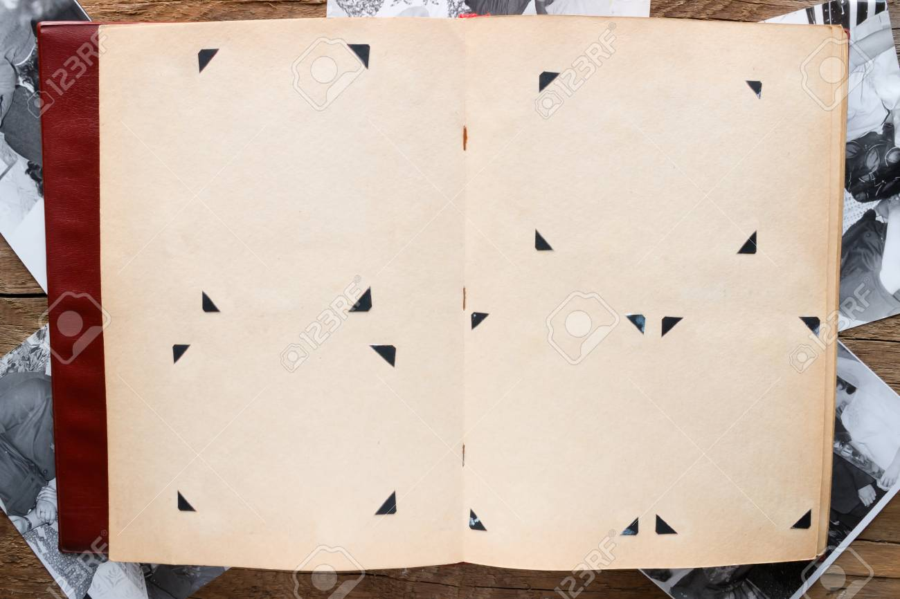 Vintage Photo Album With Blank Pages On The Background Of The