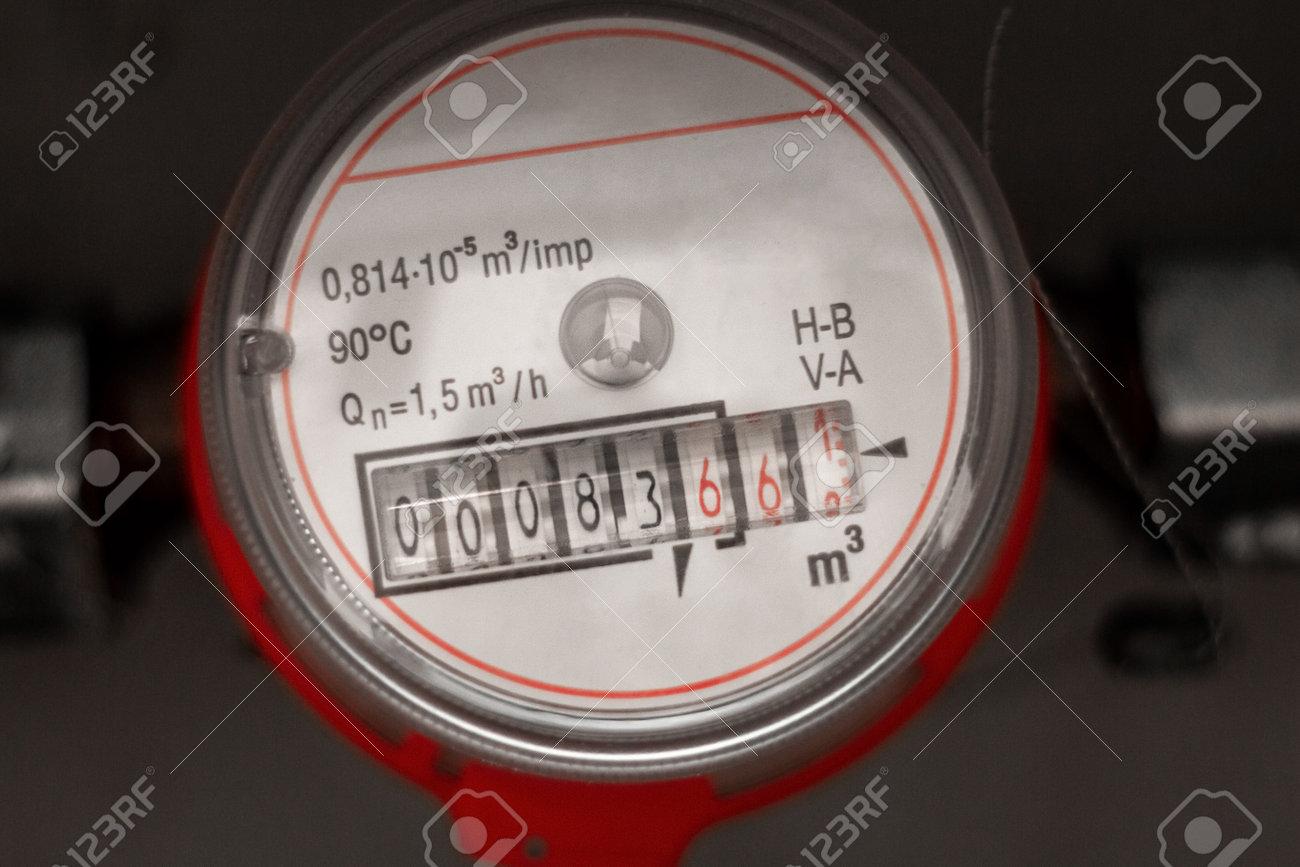 water meter close up - 166142873