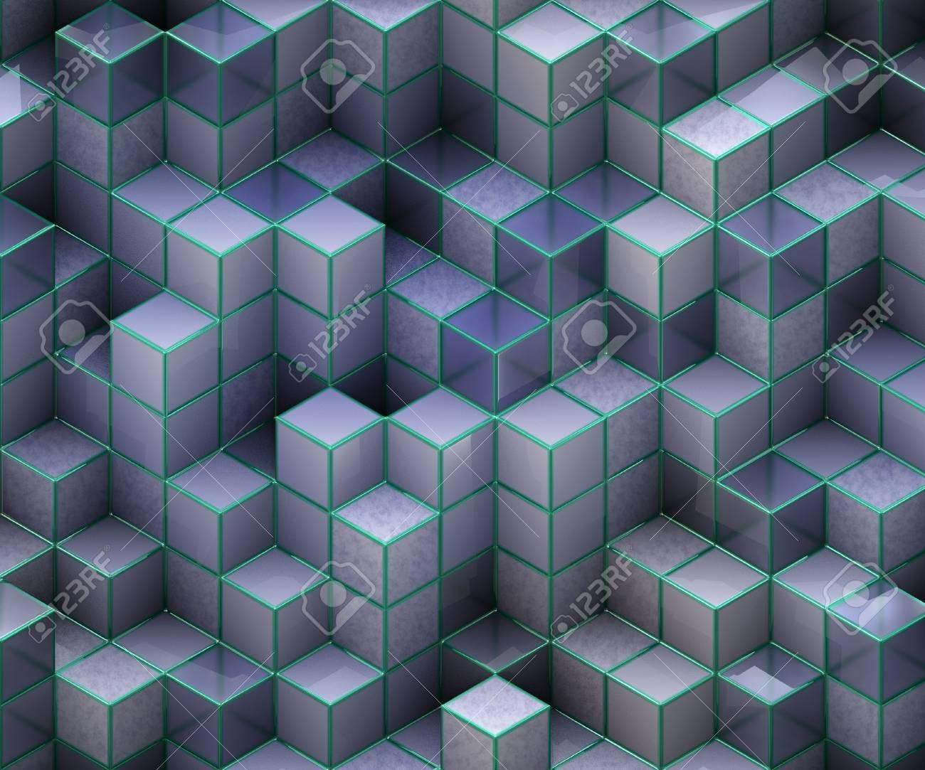blue cubes Stock Photo - 12194423