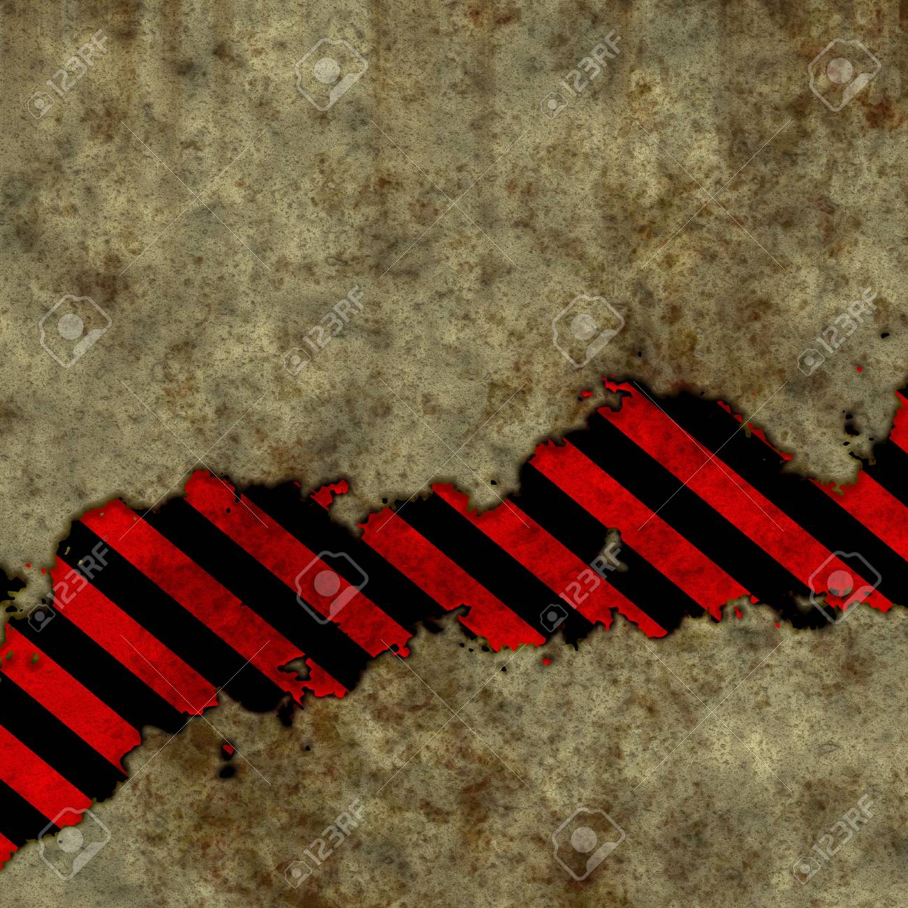 grunge wall with warning sign Stock Photo - 13095160