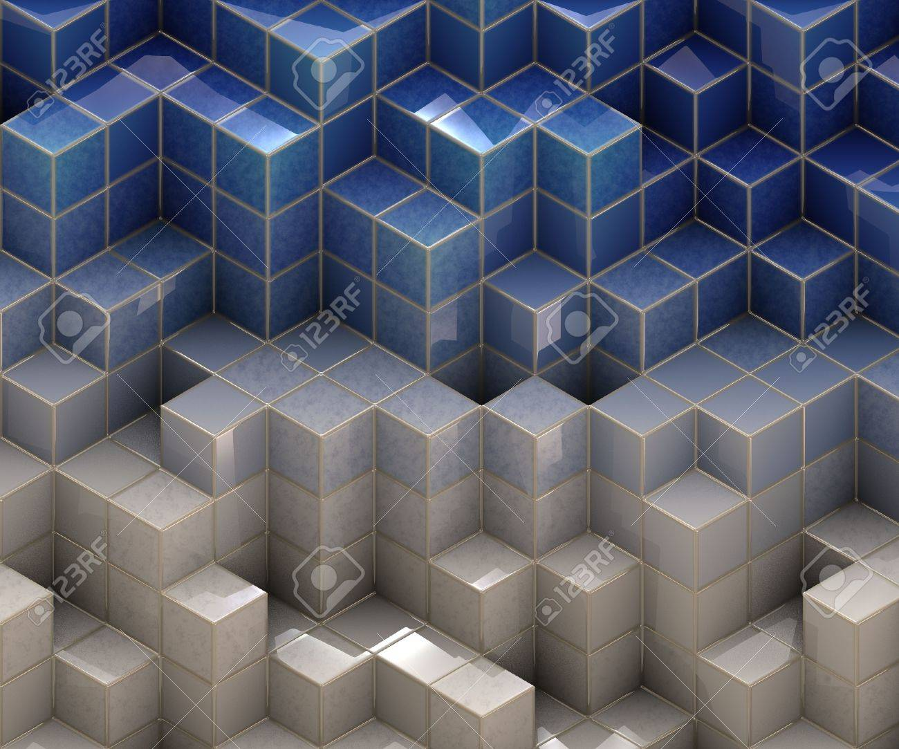 abstract cubes Stock Photo - 15136828