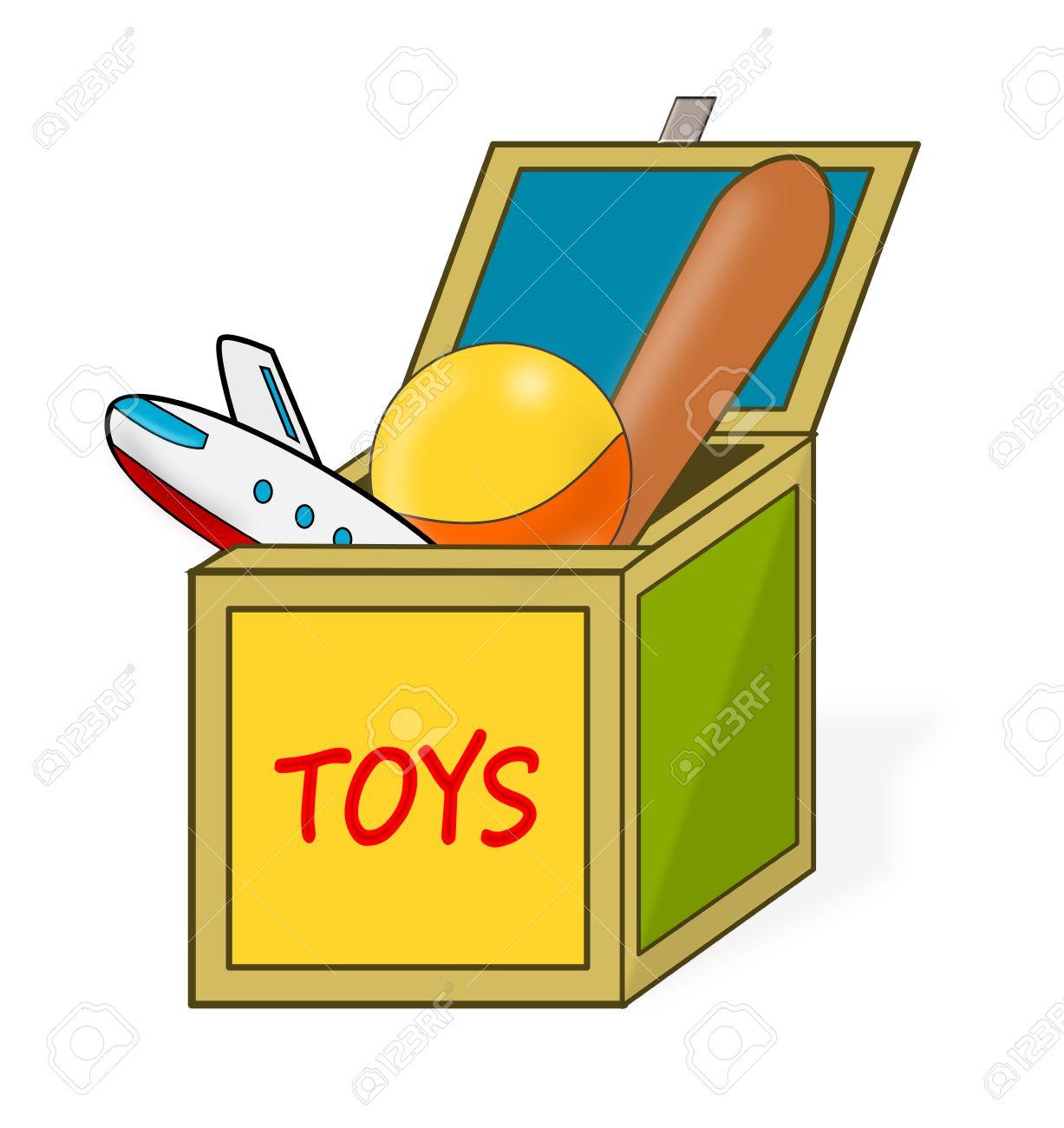 イラスト おもちゃ 箱 箱, おもちゃ.