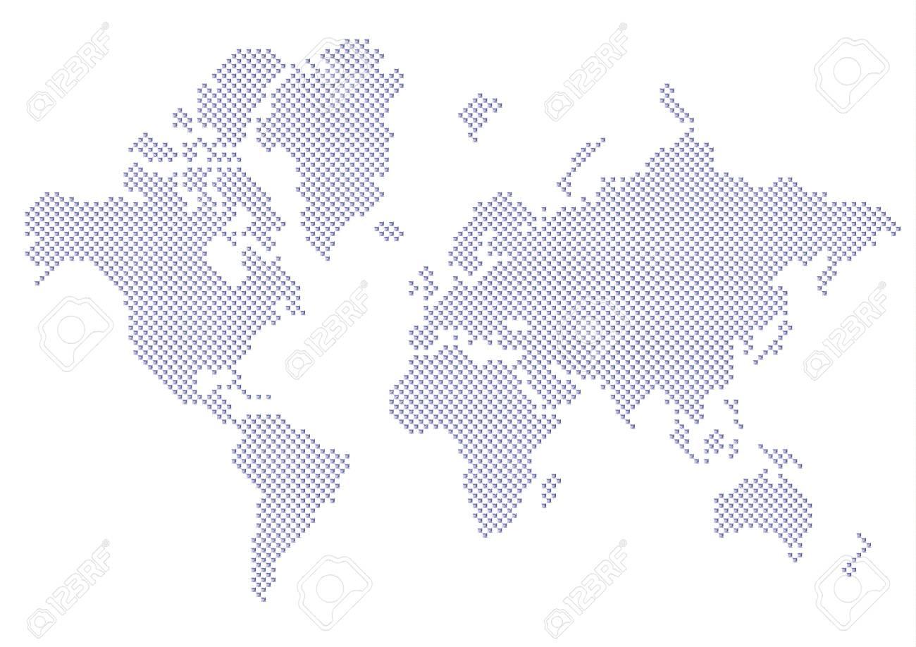 World map dots EPS 10 - 35118041