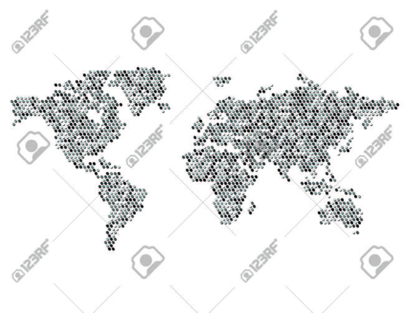 World map continents dots royalty free cliparts vectors and stock vector world map continents dots gumiabroncs Gallery