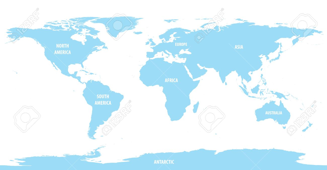 World map of continents with outline light color royalty free vector world map of continents with outline light color gumiabroncs Image collections